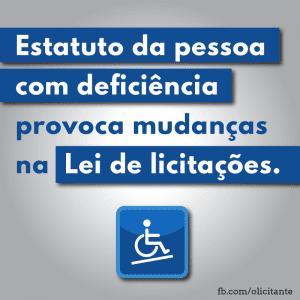 Mudanças na lei de licitações provocadas pela lei 13.146/2015